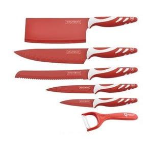 6dílná sada nožů Chef Non-stick Color, červená