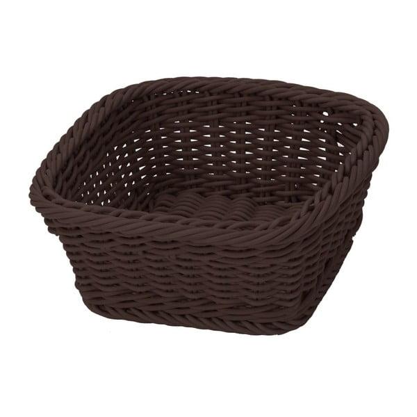 Košík Korb Quadra Brown, 19x19x7,5 cm
