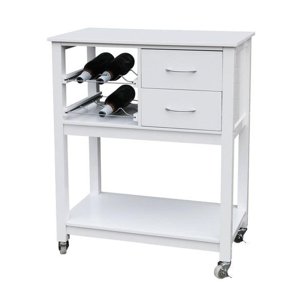 Fehér fa gurulós konyhai tároló - Premier Housewares