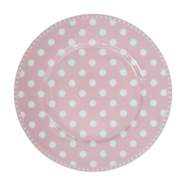 Dezertní talíř Krasilnikoff Dot Pink