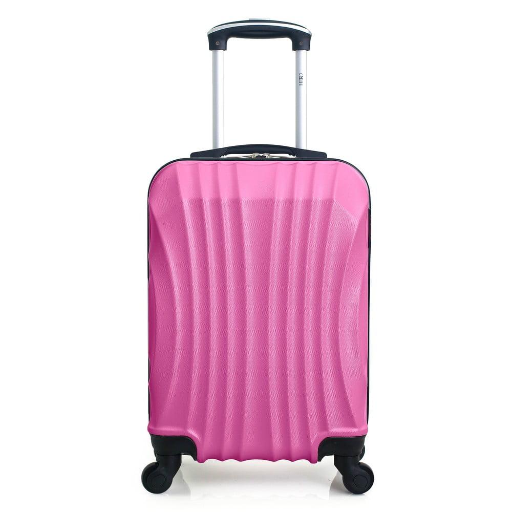 Jasně růžový cestovní kufr na kolečkách Hero Moscou-e, 30 l