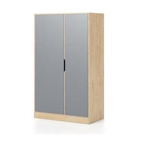 Șifonier cu 2 uși Devoto Moody, culoarea lemnului natural - gri