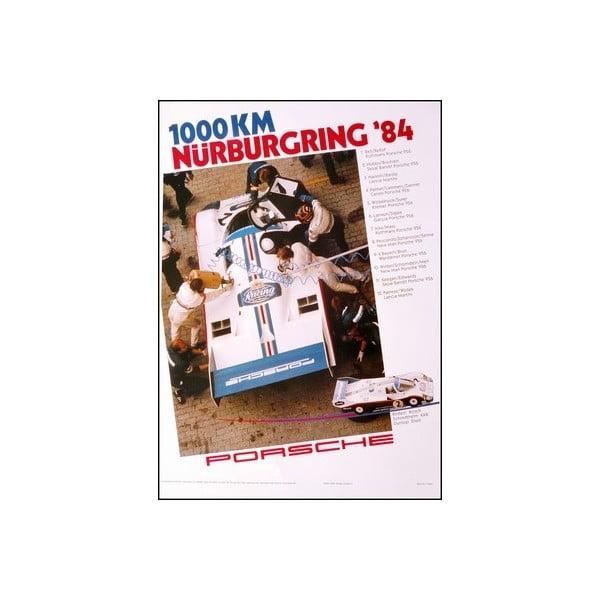 Plakát Porsche Nürburgring 1984, 70x50 cm