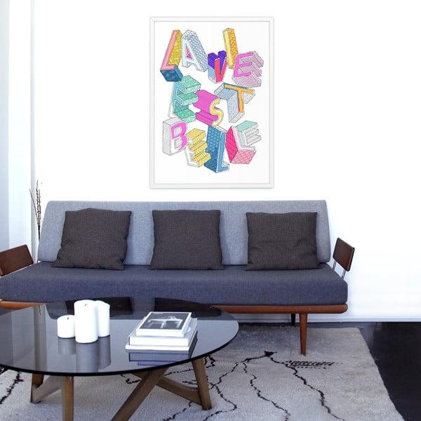 Omalovánka OMY La Vie Est Belle (70 x 100 cm)