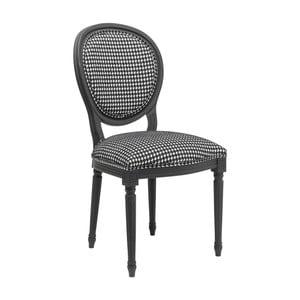 Černobílá jídelní židle Kare Design Pepita