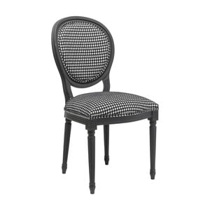 Scaun Kare Design Pepita, alb-negru