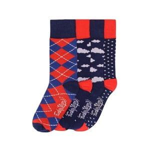 Sada 4 párů barevných ponožek Funky Steps Josh, vel. 35-39