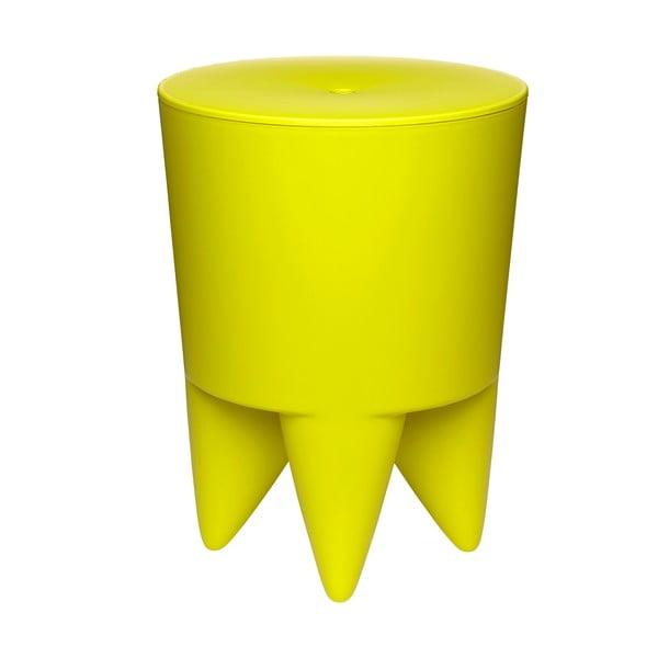 Univerzální stolek/koš/chladič na led Bubu, žlutý
