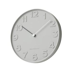 Šedé nástěnné hodiny Numbers