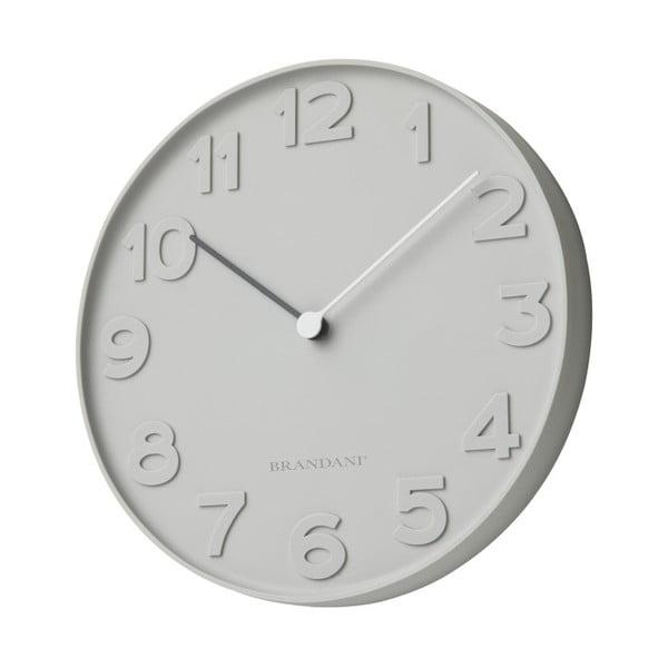Sivé nástenné hodiny Brandani Numbers