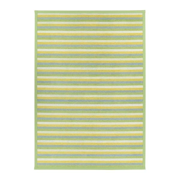 Zelený vzorovaný oboustranný koberec Narma Veere, 140x200cm
