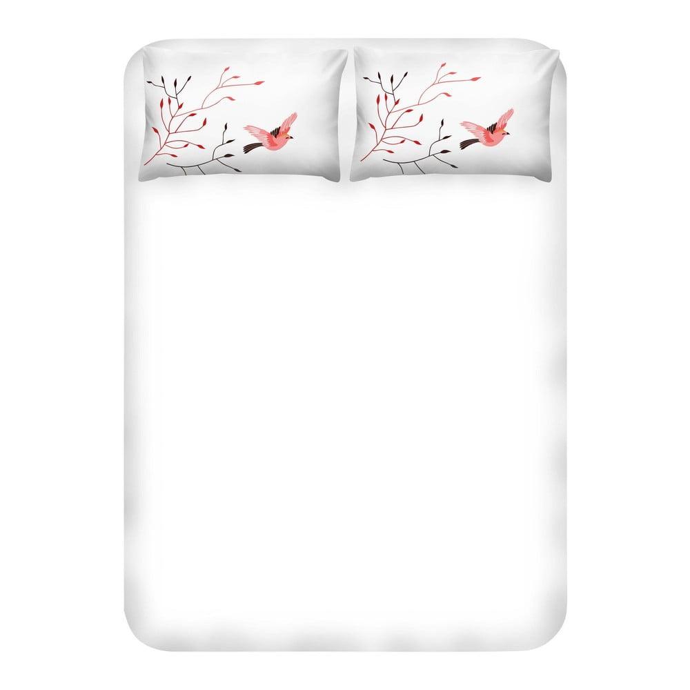 Set prostěradla a 2 povlaků na polštáře EnLora Home Fidella Pink, 240 x 260 cm