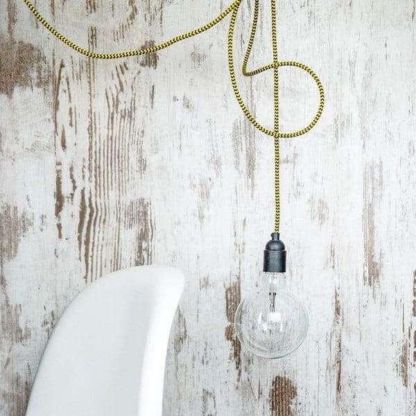 Barevný kabel Loft se žárovkou, borůvka