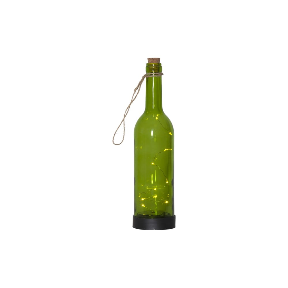 Zelené venkovní solární LED svítidlo ve tvaru láhve Best Season Bottle
