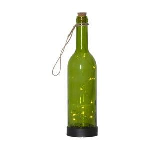 Zelené venkovní solární LED svítidlo ve tvaru láhve BestSeason Bottle