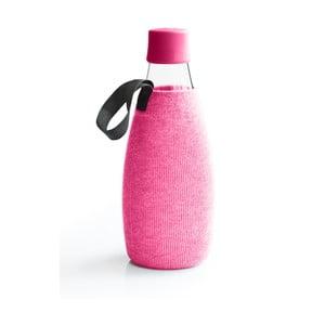 Růžový obal na skleněnou lahev ReTap s doživotní zárukou, 800ml