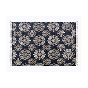 Šedý vzorovaný koberec z bavlny Cotex Valan, 70 x 140 cm