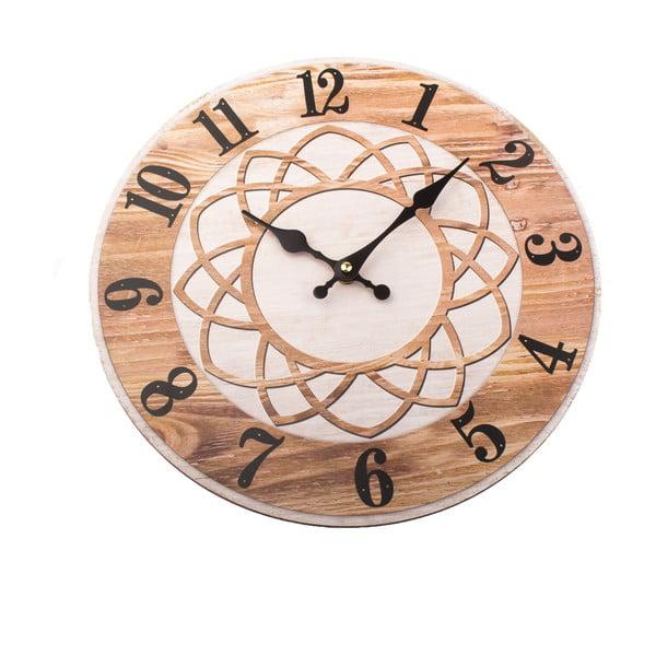 Dřevěné nástěnné hodiny Dakls, ø34cm