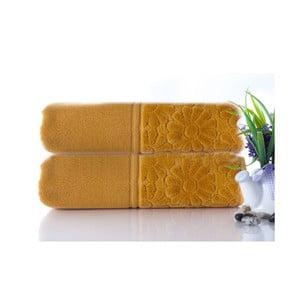 Set dvou ručníků Samba Mustard Color, 50x90 cm