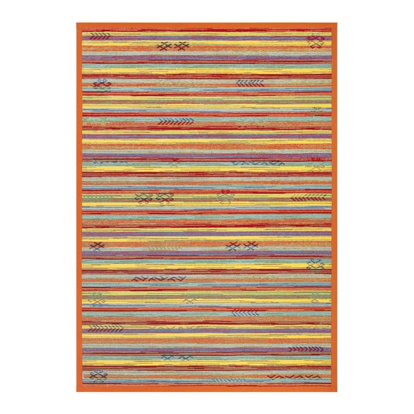 Oranžový oboustranný koberec Narma Liiva Multi, 70 x 140 cm