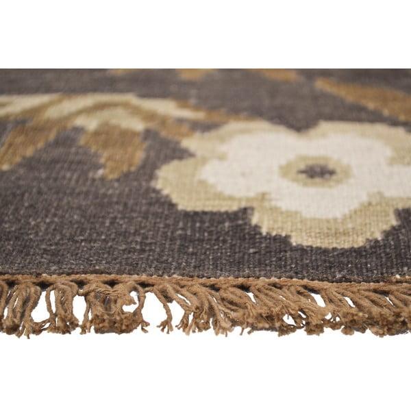 Vlněný koberec Kilim Floral 165, 155x240 cm