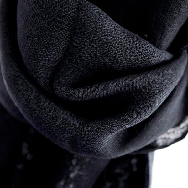 Lněný šátek Luxor 65x200 cm, tmavě šedý