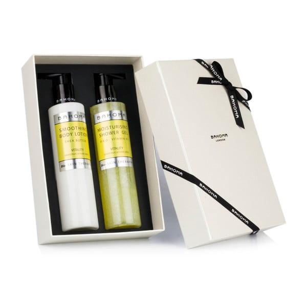 Set sprchového gelu a tělového mléka Bahoma London Lotion Vitality