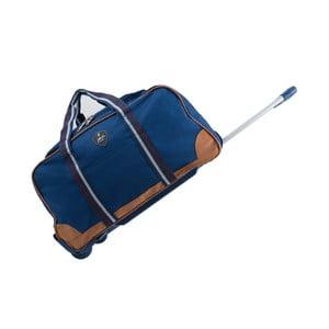 Modrá cestovní taška na kolečkách GENTLEMAN FARMER Sydney, 93 l