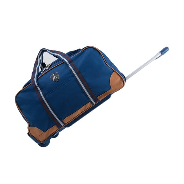 Niebieska torba podróżna na kółkach GENTLEMAN FARMER Sydney, 63 l