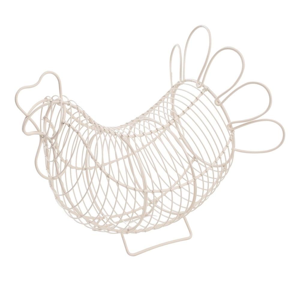 Bílý kovový košík na vajíčka T&G Woodware Chicken