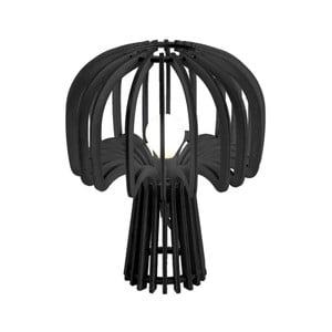 Černá skládací dřevěná stolní lampa Leitmotiv Globular Mushroom