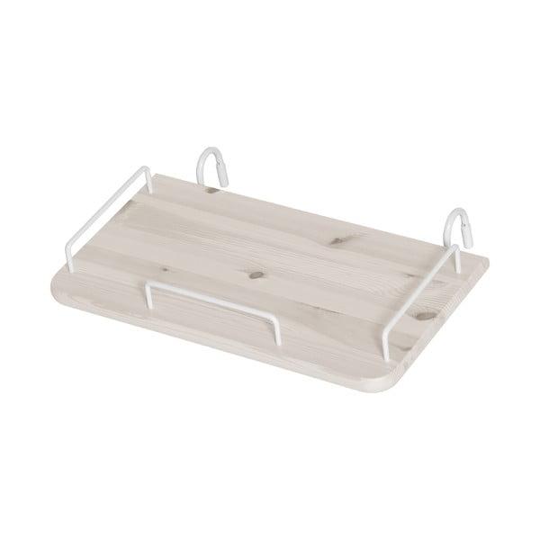 Bílý závěsný noční stolek z borovicového dřeva k dětské posteli Flexa Classic