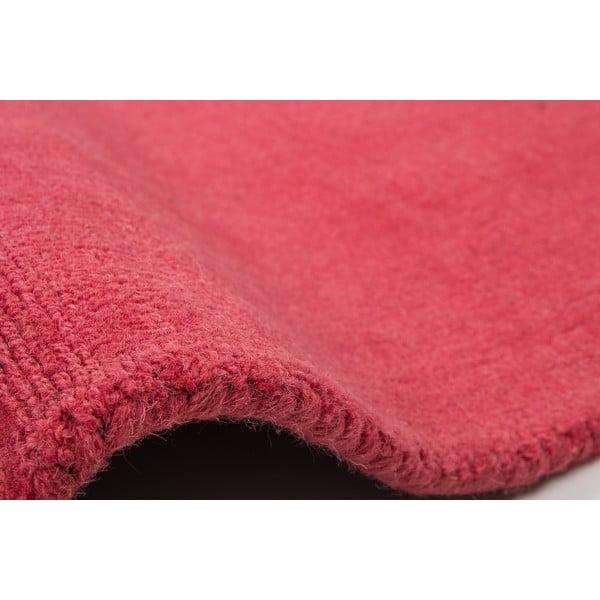 Vlněný koberec Tiffany 80x150 cm, sytě růžový