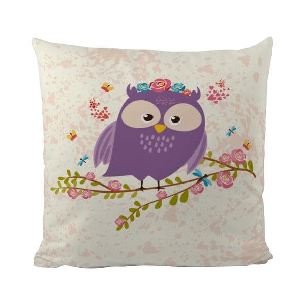 Polštář Flower Owl, 50x50 cm