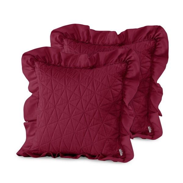 Sada 2 červených obliečok na vankúš AmeliaHome Tilia, 45 x 45 cm