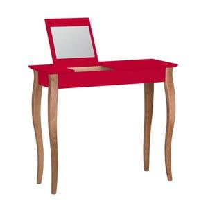 Červený toaletní stolek se zrcadlem Ragaba Lillo, šířka85cm