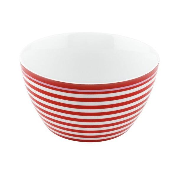 Porcelánová miska Lines, červená 4 ks