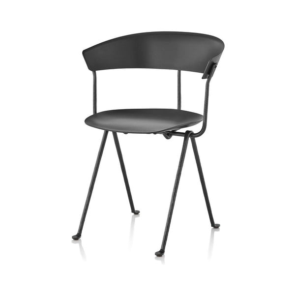 Černo-šedá jídelní židle Magis Officina