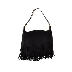 Černá kožená kabelka Florence Bags Petunia
