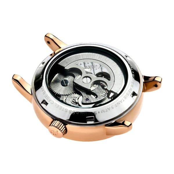 Dámské hodinky s růžovým páskem z pravé kůže Walter Bach Miria