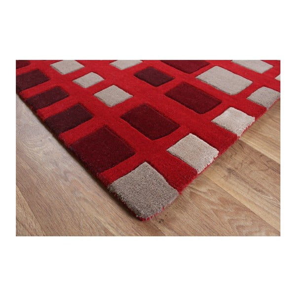 Vlněný koberec Plaza Red 120x170 cm