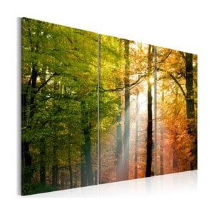 Obraz na plátně Artgeist Autumn Forest, 120x80cm