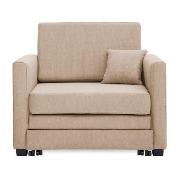 Piaskowobrązowy fotel rozkładany Vivonita Brent