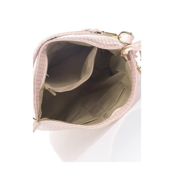 Pudrově růžová kožená kabelka Giorgio Costa Violina