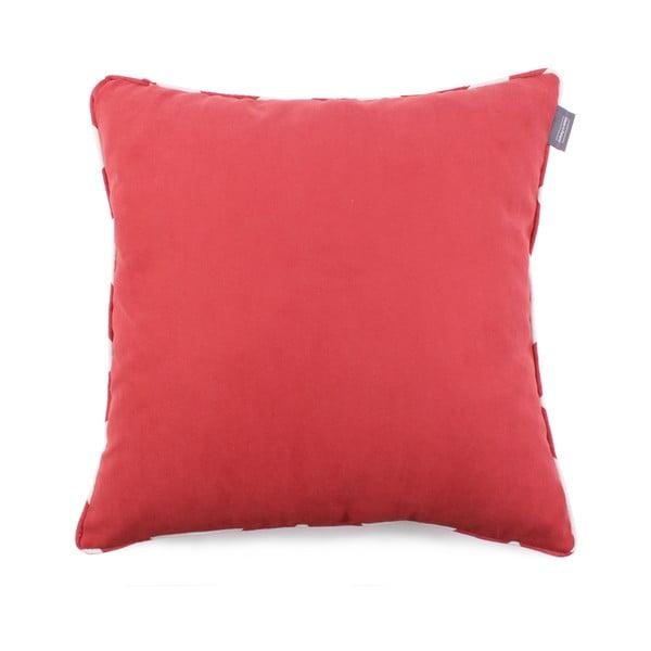 Față de pernă roșie WeLoveBeds Zig Zag, 50 x 50 cm
