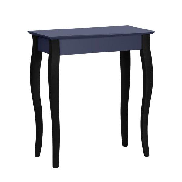 Grafitovosivý konzolový stolík s čiernymi nohami Ragaba Lilo, šírka65cm