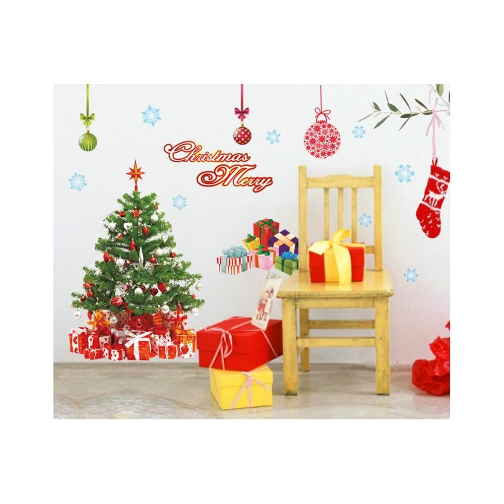 Vánoční samolepky Ambiance Santa,Balls and Tree Ambiance