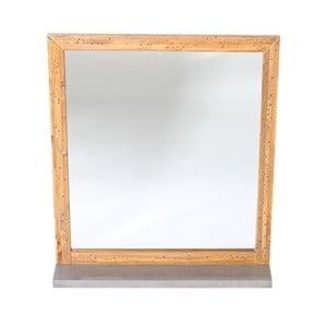 Šedé nástěnné zrcadlo z borovicového dřeva Woodking Stonewall