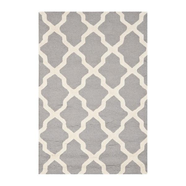 Světle šedý vlněný koberec Safavieh Ava 121x182cm