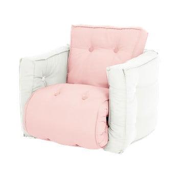 Fotoliu extensibil pentru copii Karup Design Mini Dice Pink//Creamy imagine